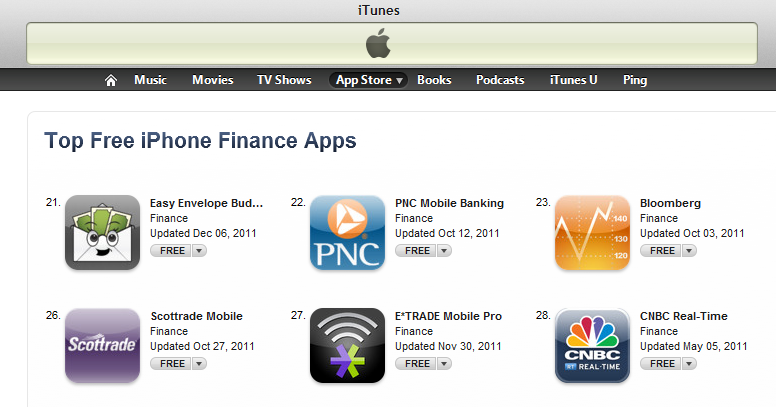 EEBA Hits the Top 25 Free Finance Apps for iPhone!